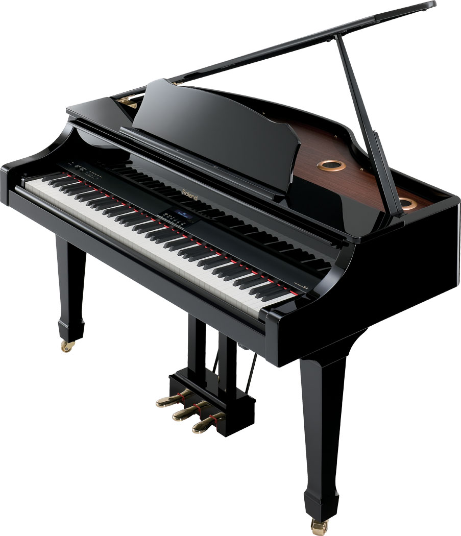 Roland hybrid digital grand piano for How big is a grand piano