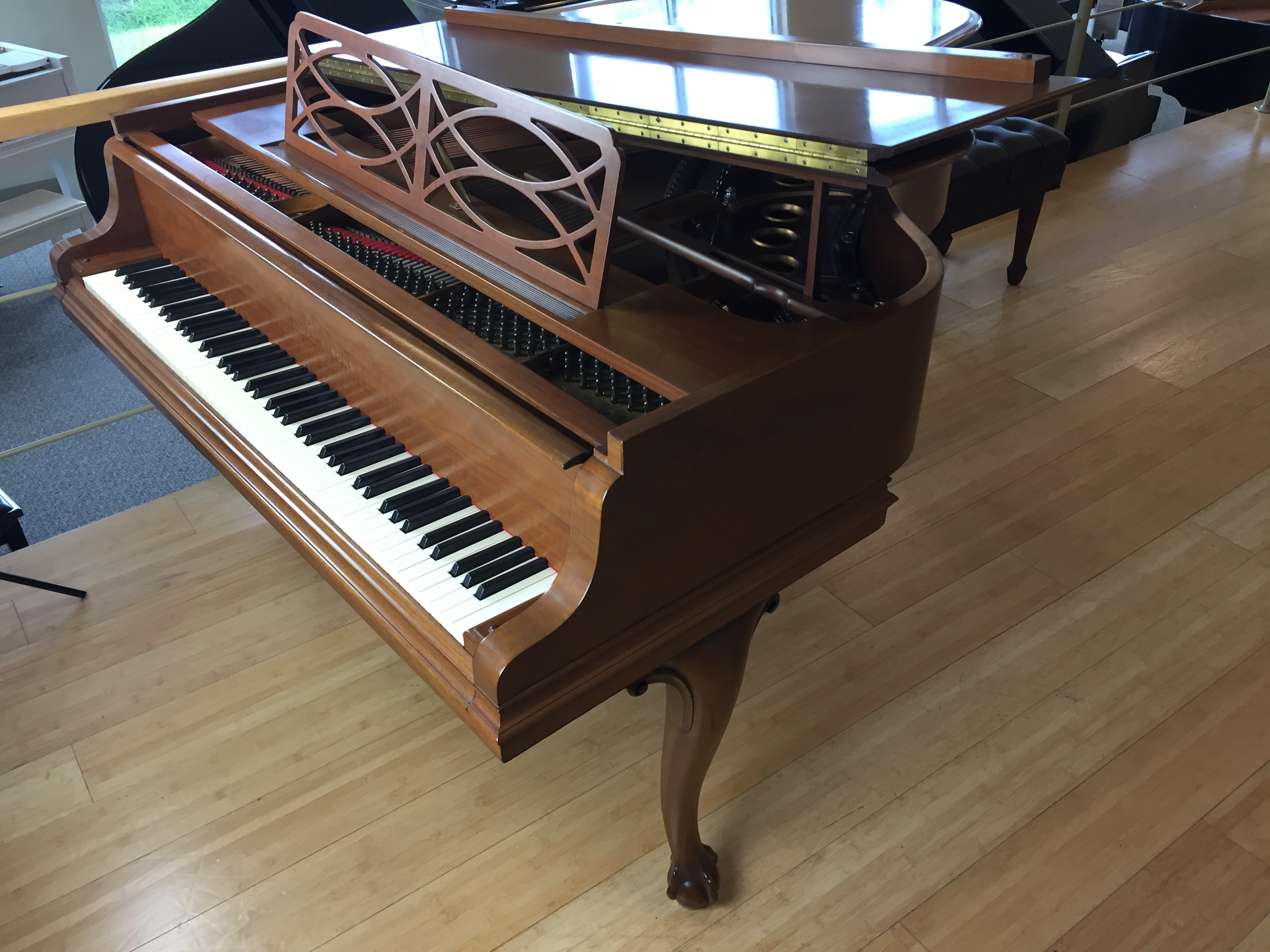 Used Steinway Model M Quot Chippendale Quot Walnut Baby Grand