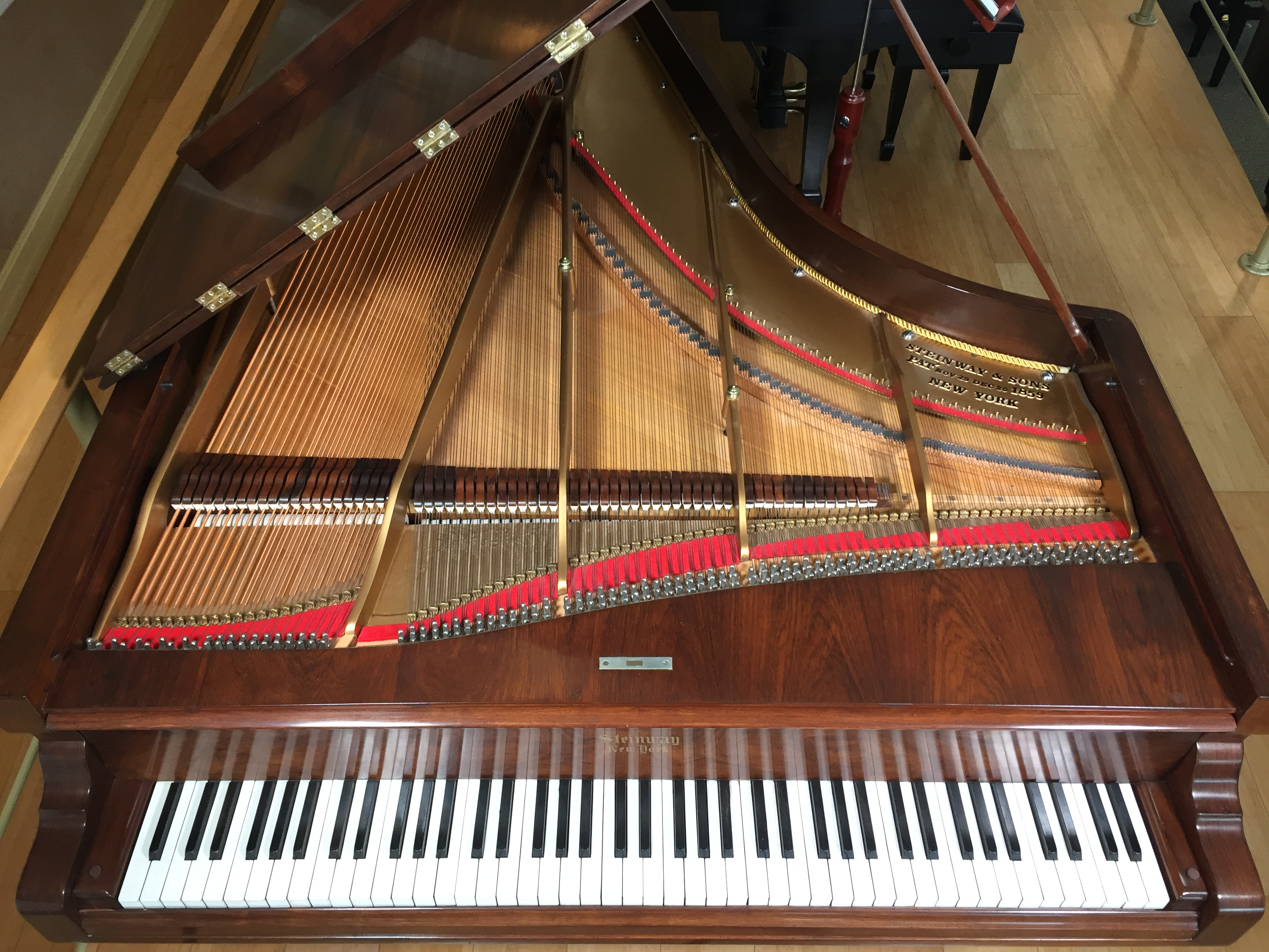 Restored steinway antique grand steinway piano gallery for Small grand piano