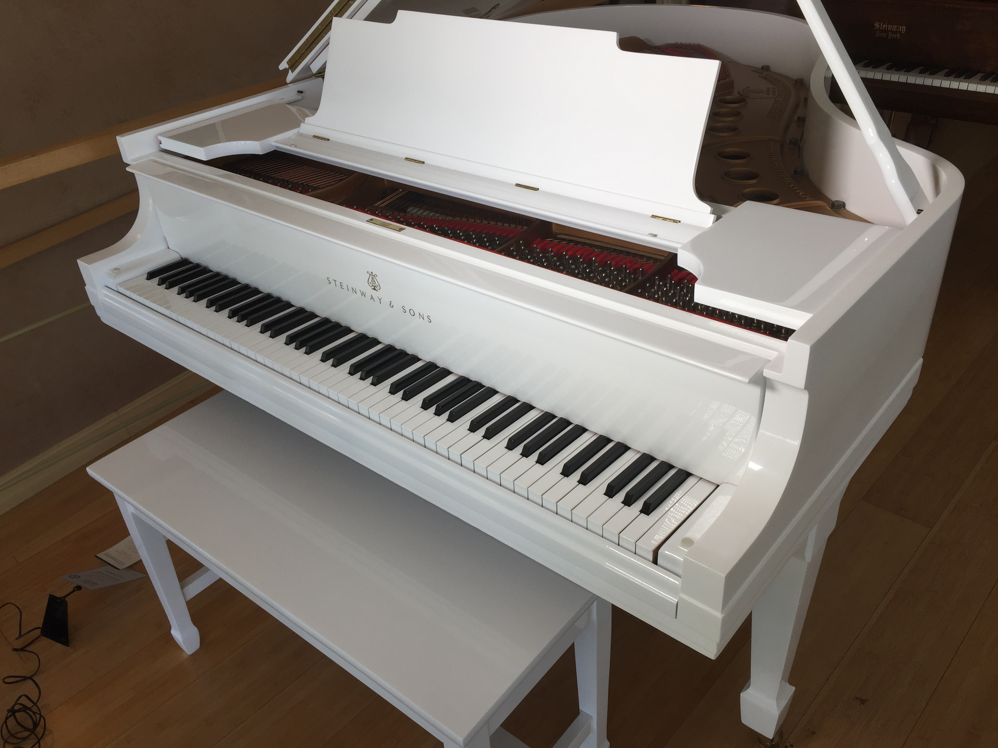 White Steinway Baby Grand Historic Steinway Piano Gallery Of Naples